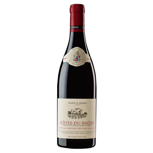 Côtes du Rhône EDITION PRO-IDEE 2017, Perrin, Rhône, Frankreich Er macht Weine mit 100 Parker-Punkten. Und diesen Côtes du Rhône – exklusiv für die EDITION PRO-IDEE.