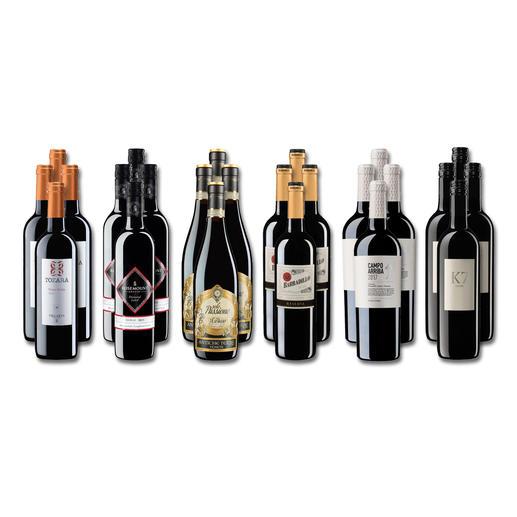 """Weinsammlung """"Die kleine Rotwein-Sammlung Winter 2019"""", 24 Flaschen Wenn Sie einen kleinen, gut gewählten Weinvorrat anlegen möchten, ist dies jetzt besonders leicht."""
