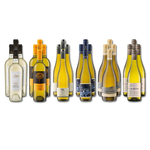 """Weinsammlung """"Die kleine Weisswein-Sammlung Frühjahr 2020"""", 24 Flaschen Wenn Sie einen kleinen, gut gewählten Weinvorrat anlegen möchten, ist dies jetzt besonders leicht."""