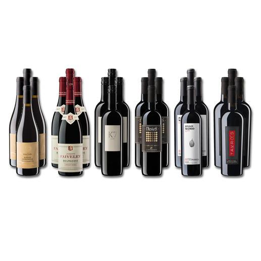 """Weinsammlung """"Die kleine Rotwein-Sammlung für anspruchsvolle Geniesser Frühjahr 2020"""", 24 Flaschen Wenn Sie einen kleinen, gut gewählten Weinvorrat anlegen möchten, ist dies jetzt besonders leicht."""