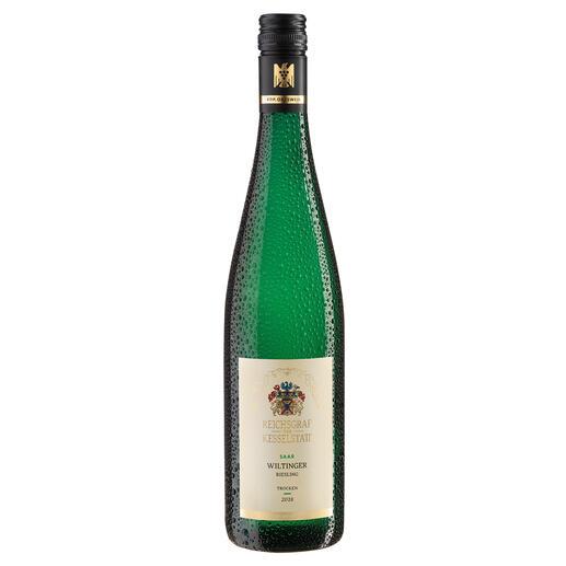 """Wiltinger Riesling 2018, Reichsgraf von Kesselstatt, Mosel, Deutschland """"Ganz sicher mit einem grossen Gewächs vergleichbar."""" (Robert Parker, The WineAdvocate244, 08.2019)"""