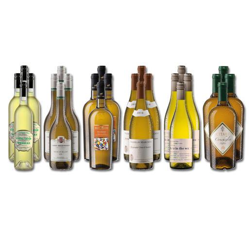 """Weinsammlung """"Die kleine Weisswein-Sammlung Frühjahr/Sommer 2020"""", 24 Flaschen Wenn Sie einen kleinen, gut gewählten Weinvorrat anlegen möchten, ist dies jetzt besonders leicht."""