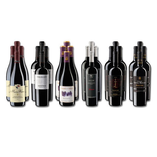 """Weinsammlung """"Die kleine Rotwein-Sammlung für anspruchsvolle Geniesser Frühjahr/Sommer 2020"""", 24 Flaschen Wenn Sie einen kleinen, gut gewählten Weinvorrat anlegen möchten, ist dies jetzt besonders leicht."""