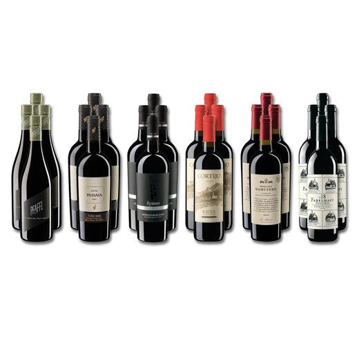 Weinsammlung - Die kleine Rotwein-Sammlung Herbst 2020, 24 Flaschen Wenn Sie einen kleinen, gut gewählten Weinvorrat anlegen möchten, ist dies jetzt besonders leicht.