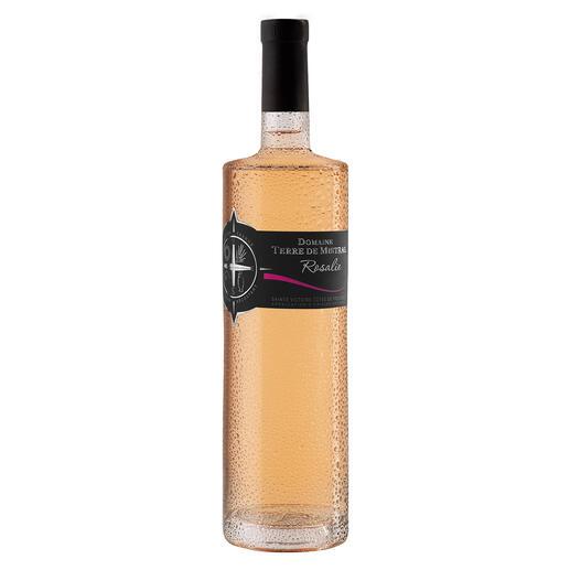 Rosé Rosalie 2019, Domaine Terre de Mistral, Provence, Frankreich Der Preis-Genuss-Sieger. Unter 91 (!) Provence Rosés. (Decanter, August 2019)