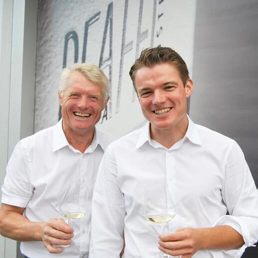 Weinmacher Roman Pfaffl Senior und Roman Josef Pfaffl