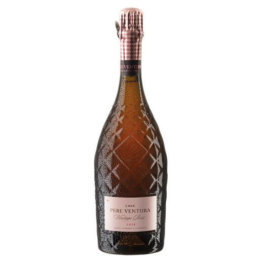 Cava Rosé Gran Reserva 2016, Pere Ventura, Penedès, Spanien Der Preis-Genuss-Sieger. Unter 569 (!) verkosteten Schaumweinen. 94 Punkte (Wine & Spirit Magazine, Ausgabe August 2019 für den Jahrgang 2014)