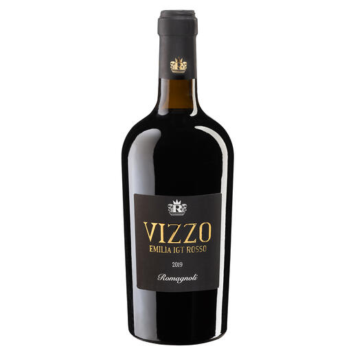 "Vizzo 2019, Romagnoli, Emilia Romagna, Italien Gehört zu den ""besten italienischen Rotweinen des Jahres."" (Luca Maroni, Annuario dei Migliori Vini Italiani 2021)"