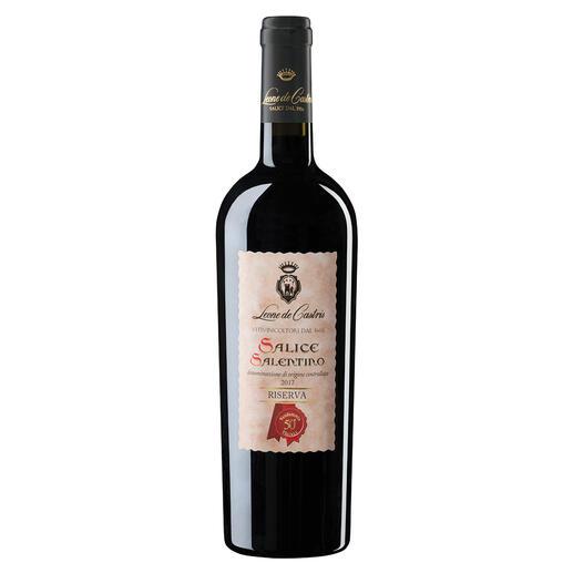 Riserva Castris 2017, Leone de Castris, Salice Salentino, Apulien, Italien Der beste Rotwein Italiens. Unter 640 (!) Konkurrenten. (Mundus Vini, Sommerverkostung 2016 über den Jahrgang 2014, www.mundusvini.com)