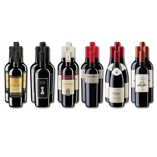 Weinsammlung - Die kleine Rotwein-Sammlung Sommer 2021, 24 Flaschen Wenn Sie einen kleinen, gut gewählten Weinvorrat anlegen möchten, ist dies jetzt besonders leicht.