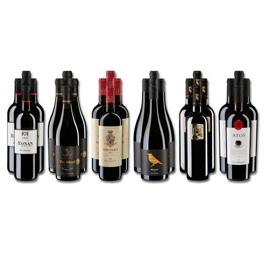 Weinsammlung - Die kleine Rotwein-Sammlung für anspruchsvolle Geniesser Sommer 2021, 24 Flaschen Wenn Sie einen kleinen, gut gewählten Weinvorrat anlegen möchten, ist dies jetzt besonders leicht.