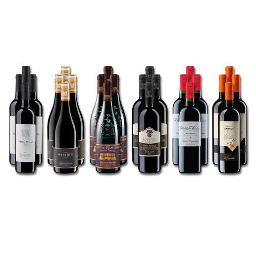 Weinsammlung - Die kleine Rotwein-Sammlung für anspruchsvolle Geniesser Herbst 2021, 24 Flaschen Wenn Sie einen kleinen, gut gewählten Weinvorrat anlegen möchten, ist dies jetzt besonders leicht.