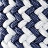 Weiss/Jeansblau