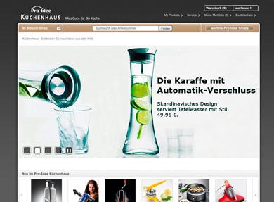 Screenshot Pro-Idee Küchenhaus-Shop